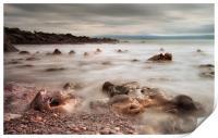 Rotherslade Bay rocks, Print