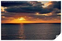 Sunrise in Gran Canaria, Print