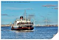 Mersey Ferryboat, Royal Daffodil on the Mersey., Print