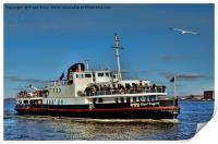 Mersey Ferry Royal Daffodil, Print