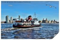 Royal Daffodil departing Seacombe for Liverpool, Print