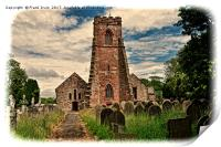 Holy Cross Church (Grunged) Woodchurch, Print