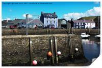 Aberaeron Harbour, Tide out!, Print