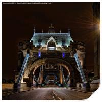 Tower bridge at night, Print