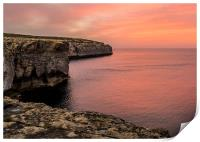 Gozo Sunset, Print