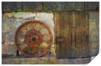 Rusty Wheel, Print