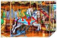 Carousel Horses, Print
