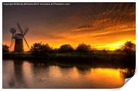 Turf Fen Sunset, Print