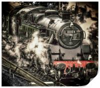 Steam Train at Swanage, Print