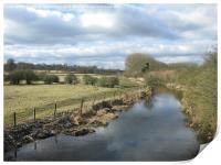River Ver at St Albans, Print