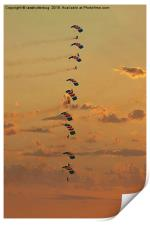 Sunset Falcons Stack Formation, Print