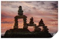 Stone Stack At Sunset, Print