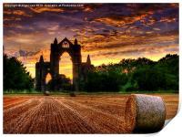 Priory Sunset, Print