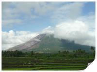 Mayon Volcano in Albay, Print