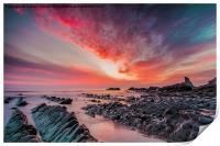 North Devon Sunset, Print