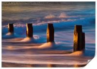 Groynes At Sunrise, Print