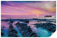 Purple Sunset, Print