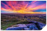 Saddle Tor Sunset, Print