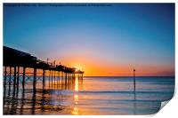Teignmouth Pier Sunrise, Print