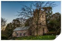 Cockington Church Torquay, Print