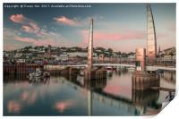 Torquay Marina Millennium Bridge., Print