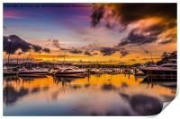 Torquay Marina Sunset., Print