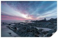 Hartland Quay Sunset., Print