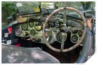 Classic Bentley dash panel, Print