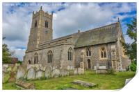 Garboldisham Church  Norfolk, Print