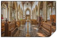 Norfolk Church View, Print