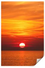 Red Seascape Sunset, Print