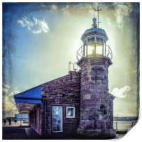 Lighthouse on the Jetty, Print