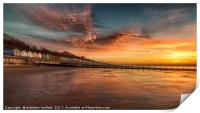 Red Sky Morning At Frinton On Sea, Print