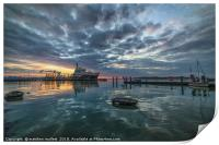 Sunset At Ha Penny Pier, Print