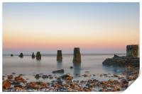 Pastel Sunset At Frinton, Print