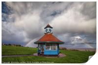 Rainbow At Frinton Clocktower, Print