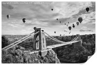 Bristol Balloon Fiesta (black and white), Print