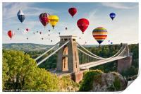 Bristol Balloon Fiesta display over Clifton Bridge, Print