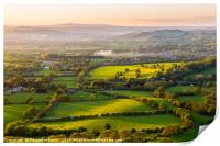 The rolling Herefordshire hills, Print