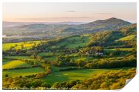 Worcestershire beacon and the rolling hills at the, Print