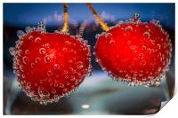 Cherries and bubbles, Print