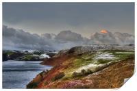 Sunrise over Llyn Clywedog Reservoir 2, Print
