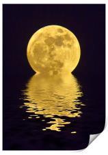 Melting Golden Moon, Print