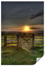 Gateway to the Sunset, Print