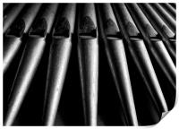 Church Organ Pipes, Print