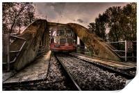 Railway bridge, Savignano Italy, Print