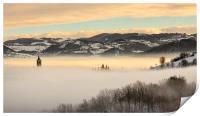 A sea of fog, Print