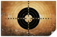 target with bullet holes, Print