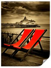 Eastbourne Pier plus deckchairs, Print