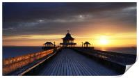 On Clevedon Pier Sunset, Print